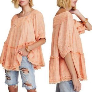 NEW Free People Mystery Land Tunic in Peach